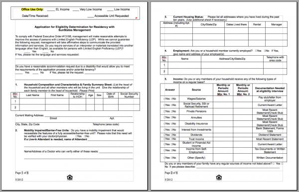 Download HUD application PDF